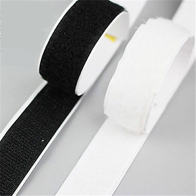 5/25m Sticky Back Self Adhesive Hook And Loop Tape 20mm Fastener Tape A