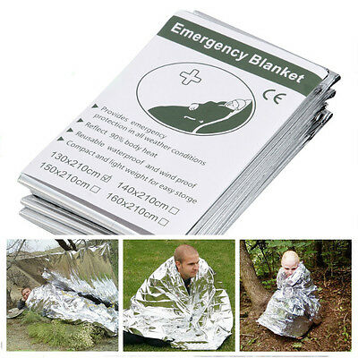 5 PCS Outdoor Emergency Tent Blanket Safety Survival Reflective Shelter Camping