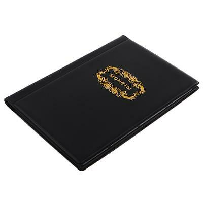 120 Coin Holders Collection Storage Penny Pockets Album Book Protector Black