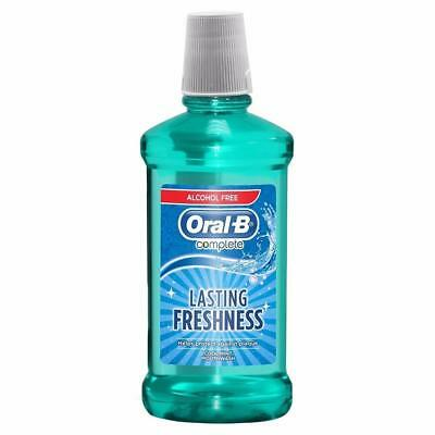 ** Oral B Lasting Freshness Cool Mint Mouthwash  500Ml New ** Alcohol Free