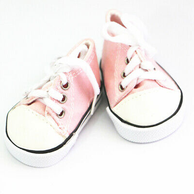 Doll Pink Canvas Sneakers Shoes Fit for 18'' American Girl Dolls Accessories