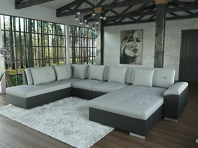 sofa alimia schwarz grau ecksofa von jalano wohnlandschaft u form couch xxl eur 612 00. Black Bedroom Furniture Sets. Home Design Ideas