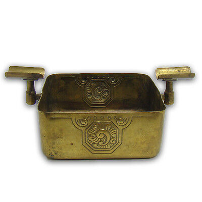 Signed Arts & Crafts WMF Hand-Hammered Brass Ashtray - early  1900's