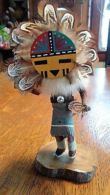 "KACHINA DOLL SUNFACE 7"" SIGN L. CHARLEY, COLLECTIBLES,INDIAN ,CULTURES southwest"