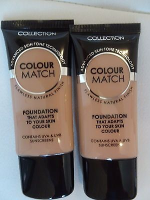 Collection Colour Match Foundation Honey or Golden 30ml Flawless Natural Finish