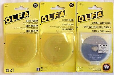 Olfa Rotary Blade And Chenille Cutter Blades- Various Choices To Choose From