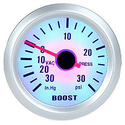 """SY Turbo Boost Vacuum Press Gauge Meter for Auto Car 2"""" 52mm 0~30in.Hg / 0~30PSI"""