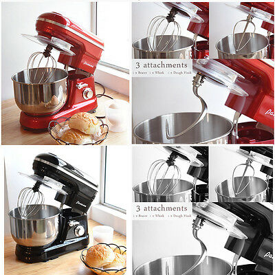 NEW 5 Speed Food Stand Mixer with 5L Bowl / Dough Hook / Whisk / Beater UK STOCK