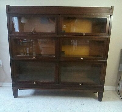 Globe Wernicke Mahogany Double Barrister Bookcase Lawyers