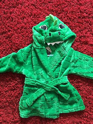 BNWT Boys/ Girls Dinosaur Dressing Gown From George. Size 12-18 Months 🌟