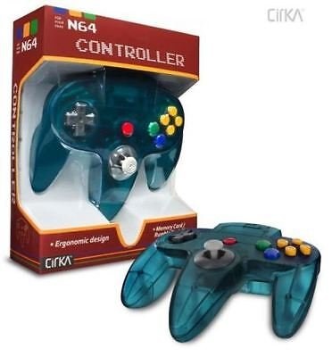 Cirka N64 Wired Controller (Turquoise) for Nintendo 64 Brand New
