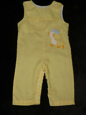 Adorable Vintage Thomas Baby Romper Longall Yellow Ducks Evc 3-6 Months