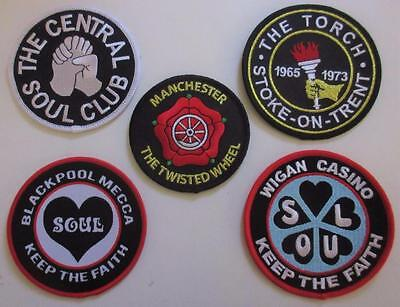 Northern Soul Patch - 5 Patch Set - 5 Famous Soul Club Patches - Set 5