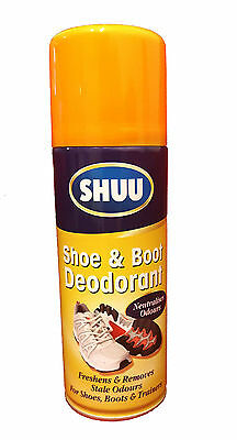 NEW Shoe & Boot Deodorant Spray For Shoe Boots & Trainers Shuu Neutralises Odour