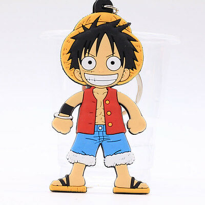 New One Piece Double Sides Soft Rubber Keyring Keychain bags Pendant