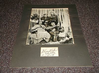 Donna Douglas (1932-2015) signed card matted w/Beverly Hillbillies photo