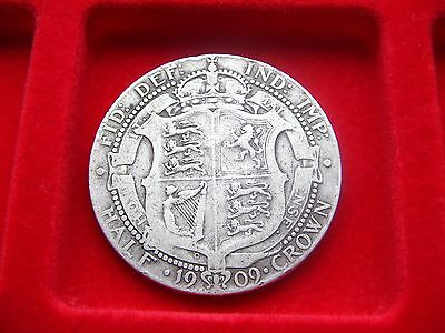 Solid Silver Half Crown of King Edward VII 1909 good all round Fine