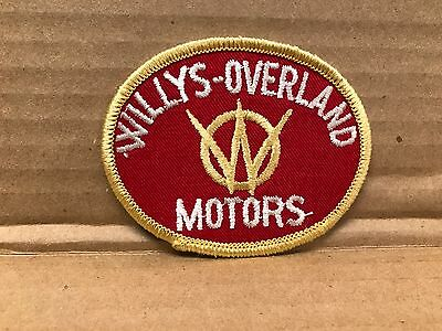 "Vintage Original Embroidered Willys-Overland Mtrs Jacket Patch 3"" X 2.5"""