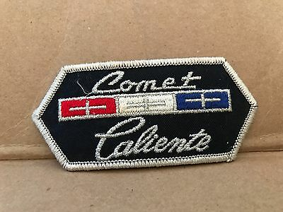 "Vintage 1960's Embroidered Comet Caliente Jacket Patch 4.5"" X 2"""