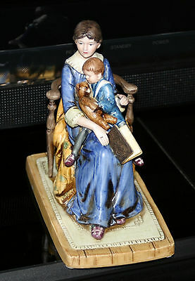 """Norman Rockwell Museum Figurine """"bedtime"""" Made In Japan 1979"""