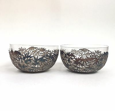 Chinese Export Sterling Silver Bowls by Wang Hing & Co. Hong Kong (pair)