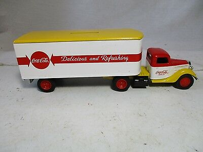 Ertl  Coca-Cola Tractor-Trailer Bank Truck.  Completely Die Cast. Very  Rare.