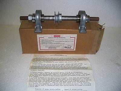 Clesco 4225 Power Drive Bench Mandrel-New-N.o.s.-Vintage-Made In U.s.a.!