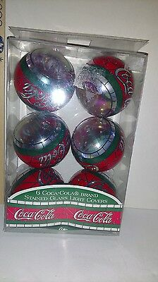 6 Coca-Cola light covers ~ Stained Glass ~ NIP