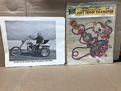 Vintage Original 1960's Big Daddy Rat Poster &  Iron-On Transfer Decal