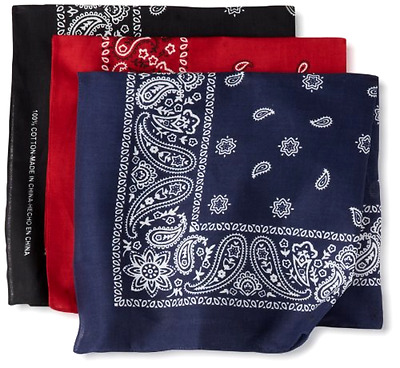 Levis Mens 3 Piece Bandana Set Assorted One Size S Printed Bandanas Men Levi US