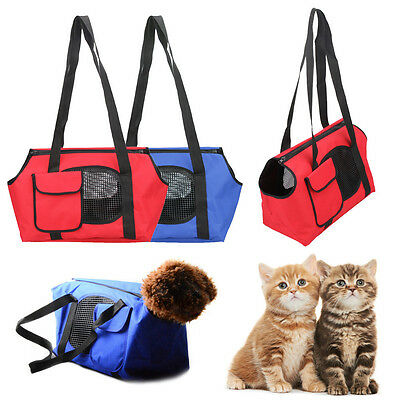 Pet Carrier Cat Dog Carrying Mesh Bag Small Animal Puppy Travel Tote Handle Bags