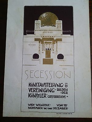 Olbrich SECESSION ,Lith.Anst.v.A.Berger Wien VIII