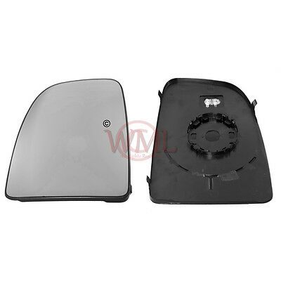 Citroen Relay 2006->2019 Door/Wing Mirror Glass Heated With Base Plate Left Side