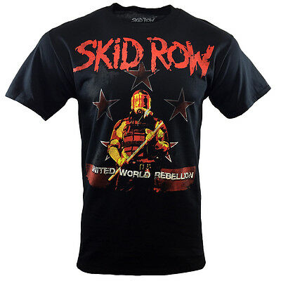 SKID ROW Mens Tee T Shirt Metal Rock Band Music s SM Graphic Logo Tour Black NEW
