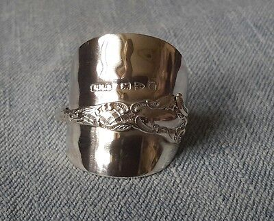 Delightful & Fancy Solid Silver Spoon Ring  Chester 1899 **118 years old**WOW***