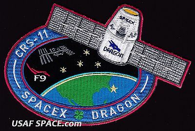 CRS-11 - SPACEX ORIGINAL FALCON-9 DRAGON F-9 ISS NASA RESUPPLY Mission PATCH