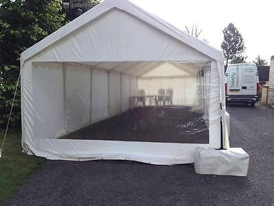 Set of 2 - 4m Gala Tent Party Marquee End Sidewall Panoramic Clear Window Panel