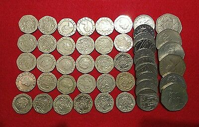 Ten English Pounds £10 in 10p 20p & 50p coins British Pounds England Britain UK