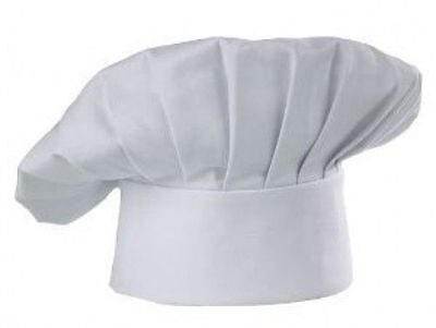 Cloth Chef Hat One Size Fits Most Velcro Closure  Free Ship Us Only