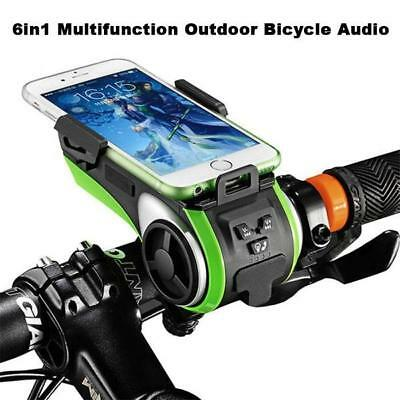 6 in 1 Multi function Outdoor Bicycle Audio Bluetooth connect, LED, Phone Sta...