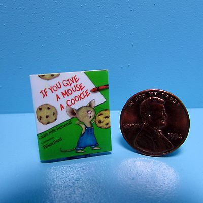 Dollhouse Miniature Replica of Book If You Give a Mouse a Cookie ~ B088