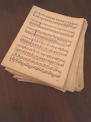 1kg Vintage Sheet Music Sheets. For Art Projects Decoupage PROPS. Shabby chic