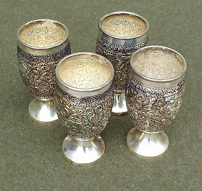 Sterling Silver Goblet Set from Madras India
