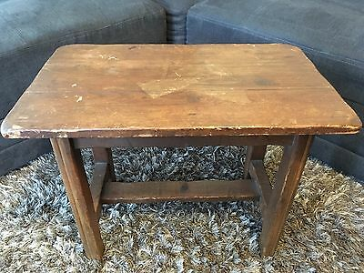 Vintage California MONTEREY 1930's? Ranch Style Side Accent Table Stool 18x23x14