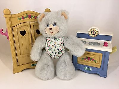 Fisher Price - Briarberry Bear Collection - Lot of Furniture & Bear BerryAnn
