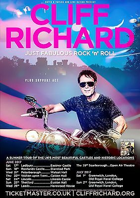 CLIFF RICHARD POSTER a - VARIOUS SIZES - WATERPROOF LAMINATED OPTION