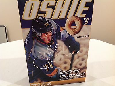TJ Oshie O's Limited Collectors Cereal Box St Louis Blues Capitals USA HOCKEY