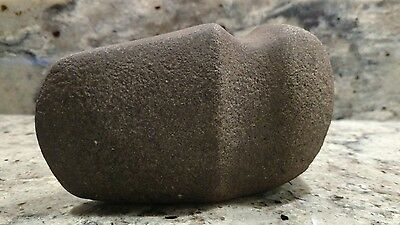 """Native American 4.75"""" Carved & Grooved Stone Axe Head"""