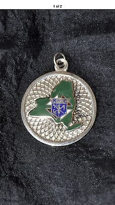 Knight Of Columbus Sterling Silver Pendant New York State