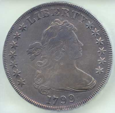 1799 Normal Date $1 Draped Bust Silver Dollar. ICG Graded VF 30. Lot #1732